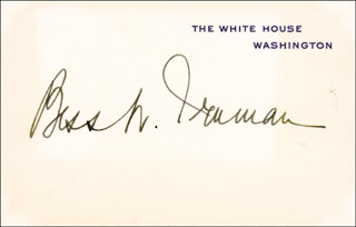 Autographs: FIRST LADY BESS W. TRUMAN - WHITE HOUSE CARD SIGNED