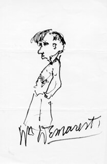 WILLIAM DEMAREST - SELF-CARICATURE SIGNED
