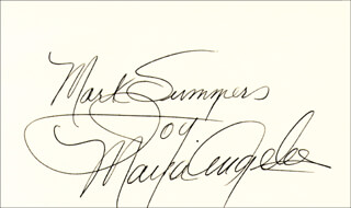 Autographs: MAYA ANGELOU - INSCRIBED SIGNATURE