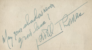LOWELL THOMAS - AUTOGRAPH QUOTATION SIGNED