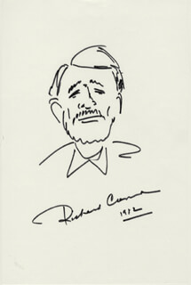 RICHARD CRENNA - SELF-CARICATURE SIGNED 1982