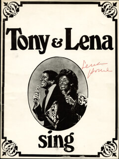 LENA HORNE - PROGRAM SIGNED