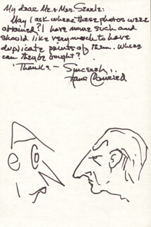 HANS CONRIED - AUTOGRAPH LETTER SIGNED WITH ORIGINAL ART