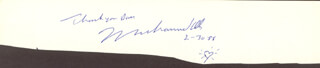 MUHAMMAD THE GREATEST ALI - AUTOGRAPH NOTE SIGNED 02/1988
