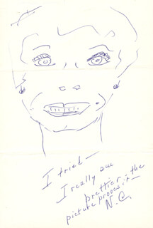 NANCY COLEMAN - SELF-CARICATURE SIGNED