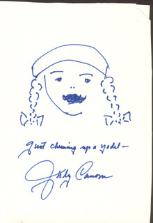 JUDY CANOVA - SELF-CARICATURE SIGNED