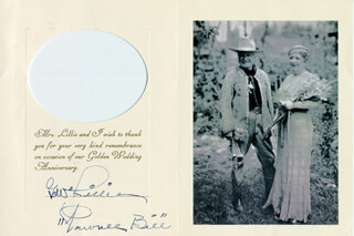 Autographs: GORDON W. PAWNEE BILL LILLIE - GREETING CARD SIGNED CIRCA 1938