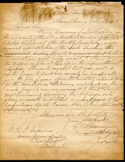 GENERAL PIERRE G.T. BEAUREGARD - MANUSCRIPT LETTER SIGNED 10/26/1853