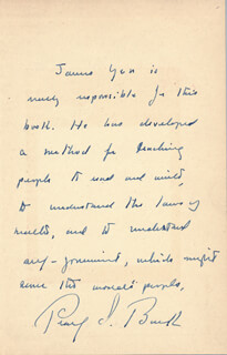 PEARL S. BUCK - AUTOGRAPH LETTER SIGNED