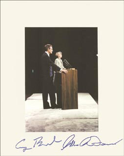 PRESIDENT GEORGE H.W. BUSH - AUTOGRAPHED SIGNED PHOTOGRAPH CO-SIGNED BY: GERALDINE A. FERRARO