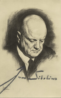 JEAN SIBELIUS - POST CARD SIGNED