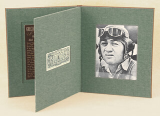COLONEL GREG PAPPY BOYINGTON - CURRENCY SIGNED