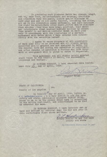 RUDOLF FRIML - CONTRACT SIGNED 04/17/1936