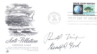 PRESIDENT RICHARD M. NIXON - FIRST DAY COVER SIGNED CO-SIGNED BY: PRESIDENT GERALD R. FORD