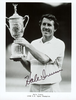 HALE IRWIN - AUTOGRAPHED SIGNED PHOTOGRAPH
