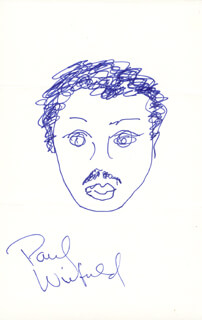 PAUL WINFIELD - SELF-CARICATURE SIGNED