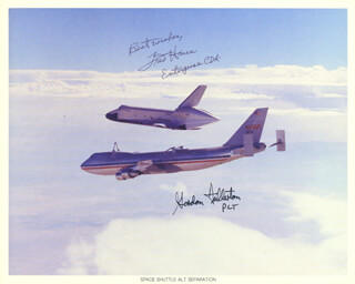 FRED W. HAISE JR. - AUTOGRAPHED SIGNED PHOTOGRAPH CO-SIGNED BY: COLONEL C. GORDON FULLERTON