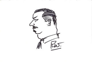 ROLAND WINTERS - SELF-CARICATURE SIGNED
