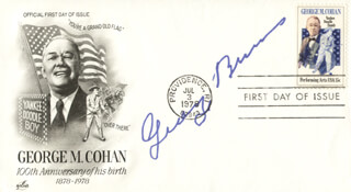 GEORGE BURNS - FIRST DAY COVER SIGNED