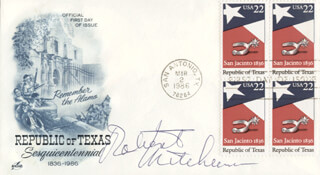 ROBERT MITCHUM - FIRST DAY COVER SIGNED