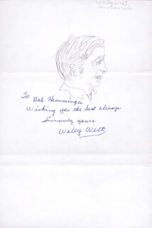 WALLY WEST - INSCRIBED SELF-CARICATURE SIGNED
