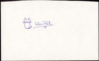 Autographs: ALICE WHITE - ORIGINAL ART SIGNED 1981