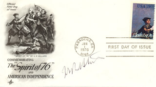 ASSOCIATE JUSTICE JOHN PAUL STEVENS - FIRST DAY COVER SIGNED