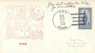 JOE ROSENTHAL - COMMEMORATIVE ENVELOPE SIGNED CO-SIGNED BY: JOHN H. BRADLEY