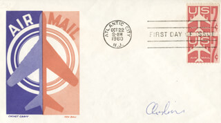 CAPTAIN G. LEONARD CHESHIRE - FIRST DAY COVER SIGNED
