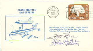 FRED W. HAISE JR. - COMMEMORATIVE ENVELOPE SIGNED CO-SIGNED BY: COLONEL C. GORDON FULLERTON