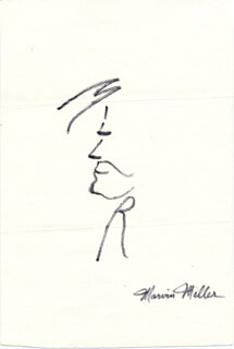 MARVIN MILLER - SELF-CARICATURE SIGNED