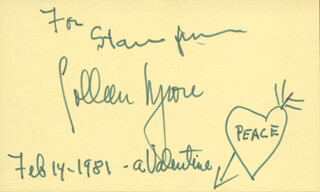 COLLEEN MOORE - INSCRIBED SIGNATURE 02/14/1981