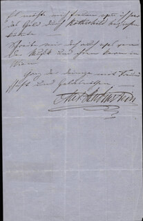 ANTON RUBINSTEIN - AUTOGRAPH LETTER SIGNED 03/12/1858