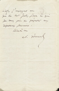 CHARLES GOUNOD - AUTOGRAPH LETTER SIGNED 02/11/1877