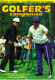 GARY PLAYER - MAGAZINE COVER SIGNED CO-SIGNED BY: LEE TREVINO