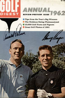 Autographs: ARNOLD PALMER - MAGAZINE COVER SIGNED CO-SIGNED BY: GARY PLAYER