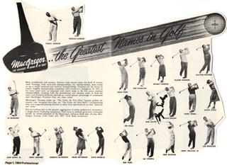 BYRON NELSON - ADVERTISEMENT SIGNED