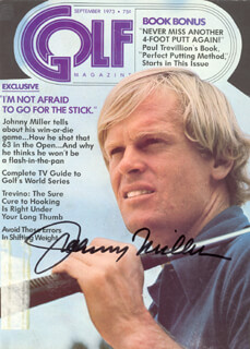 JOHNNY MILLER - MAGAZINE COVER SIGNED