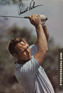 ARNOLD PALMER - MAGAZINE PHOTOGRAPH SIGNED