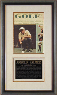 Autographs: ARNOLD PALMER - MAGAZINE COVER SIGNED