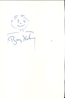 BARRY NELSON - SELF-CARICATURE SIGNED