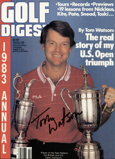 TOM WATSON - MAGAZINE COVER SIGNED