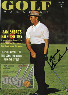 SAM SLAMMING SAMMY SNEAD - MAGAZINE COVER SIGNED