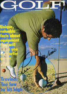 LEE TREVINO - MAGAZINE COVER SIGNED