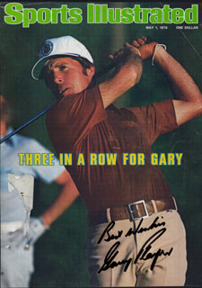 Autographs: GARY PLAYER - MAGAZINE COVER SIGNED