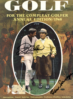 GENE SARAZEN - MAGAZINE COVER SIGNED CO-SIGNED BY: DOUG SANDERS