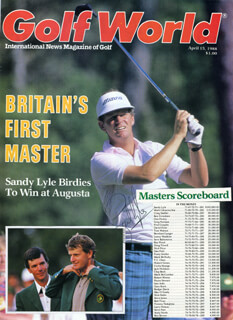 SANDY LYLE - MAGAZINE COVER SIGNED
