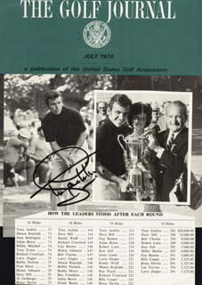 Autographs: TONY JACKLIN - MAGAZINE COVER SIGNED