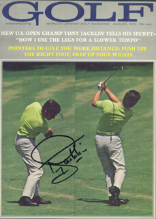 TONY JACKLIN - MAGAZINE COVER SIGNED
