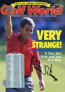 CURTIS N. STRANGE - MAGAZINE COVER SIGNED